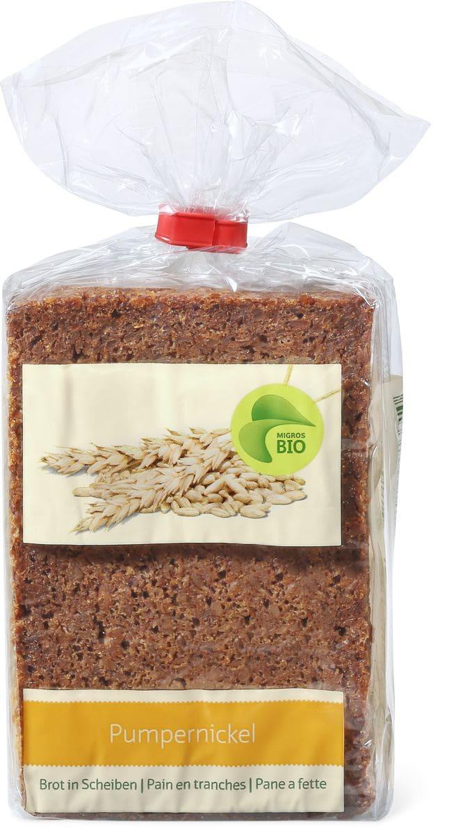 Bio Pumpernickel Brot in Scheiben