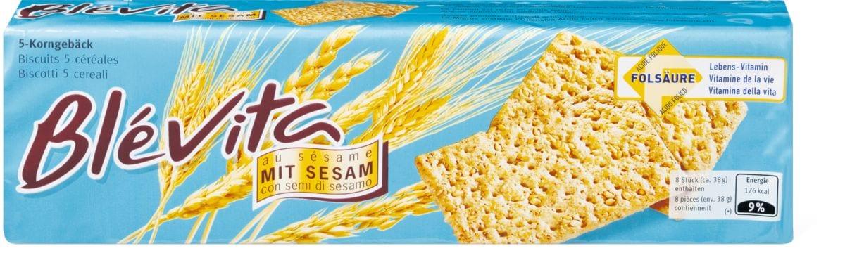 Blévita 5-Korngebäck mit Sesam