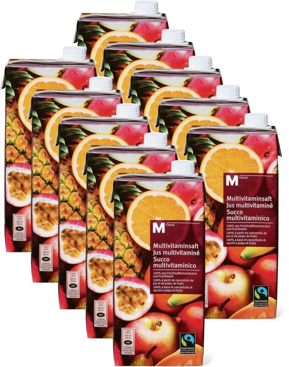 M-Classic Multivitaminsaft im 10er-Pack, Fairtrade