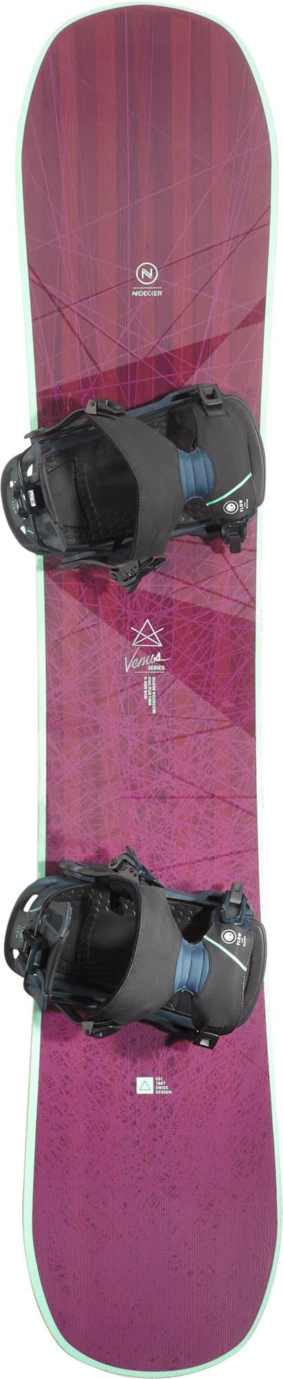 Nidecker Venus inkl. Flow Mayon Snowboard pour femme