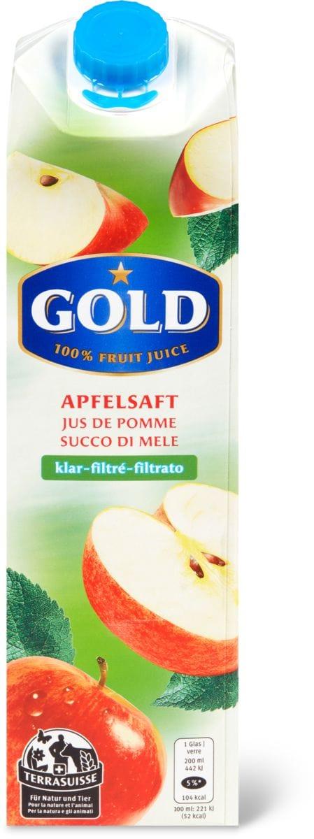 Gold TerraSuisse Apfelsaft klar