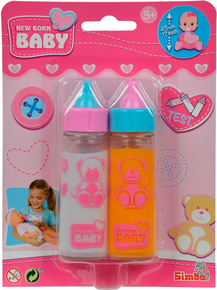 Simba 2 Magische Trinkfläschchen Saft und Milch Puppenzubehör
