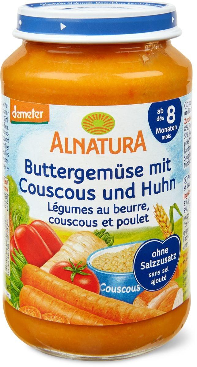 Alnatura - Verdure al burro con couscous e pollo