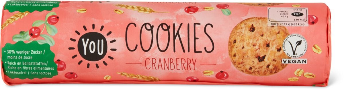 YOU Cookies Cranberry