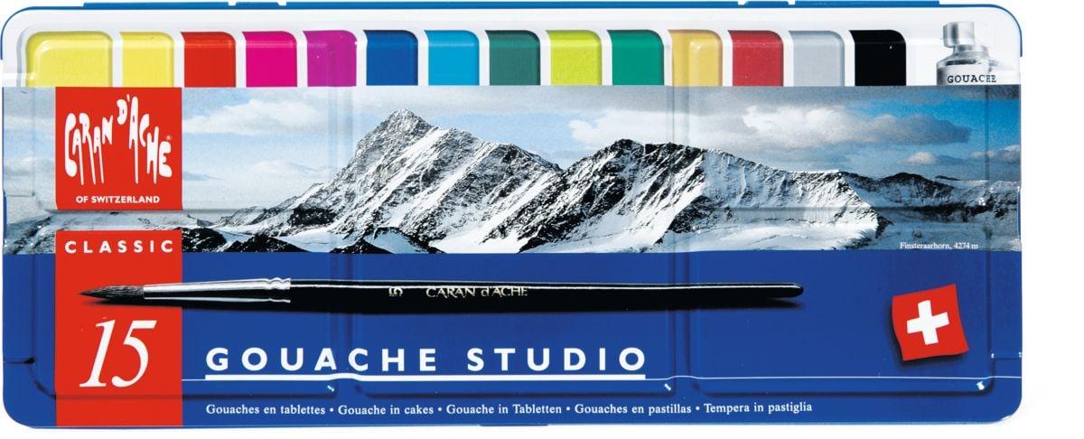 Caran d'Ache Classic Gouache in Tabletten