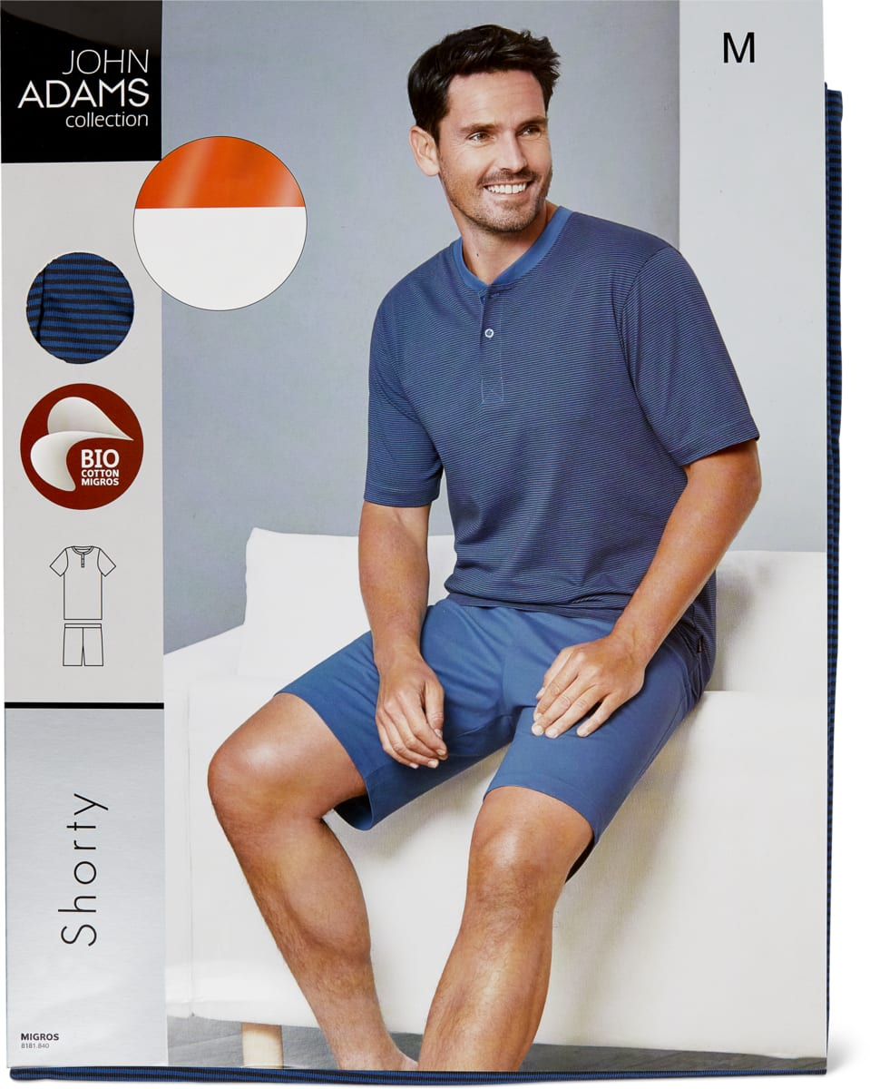 John Adams Herren-Nachtwäsche Shorty, Bio Cotton