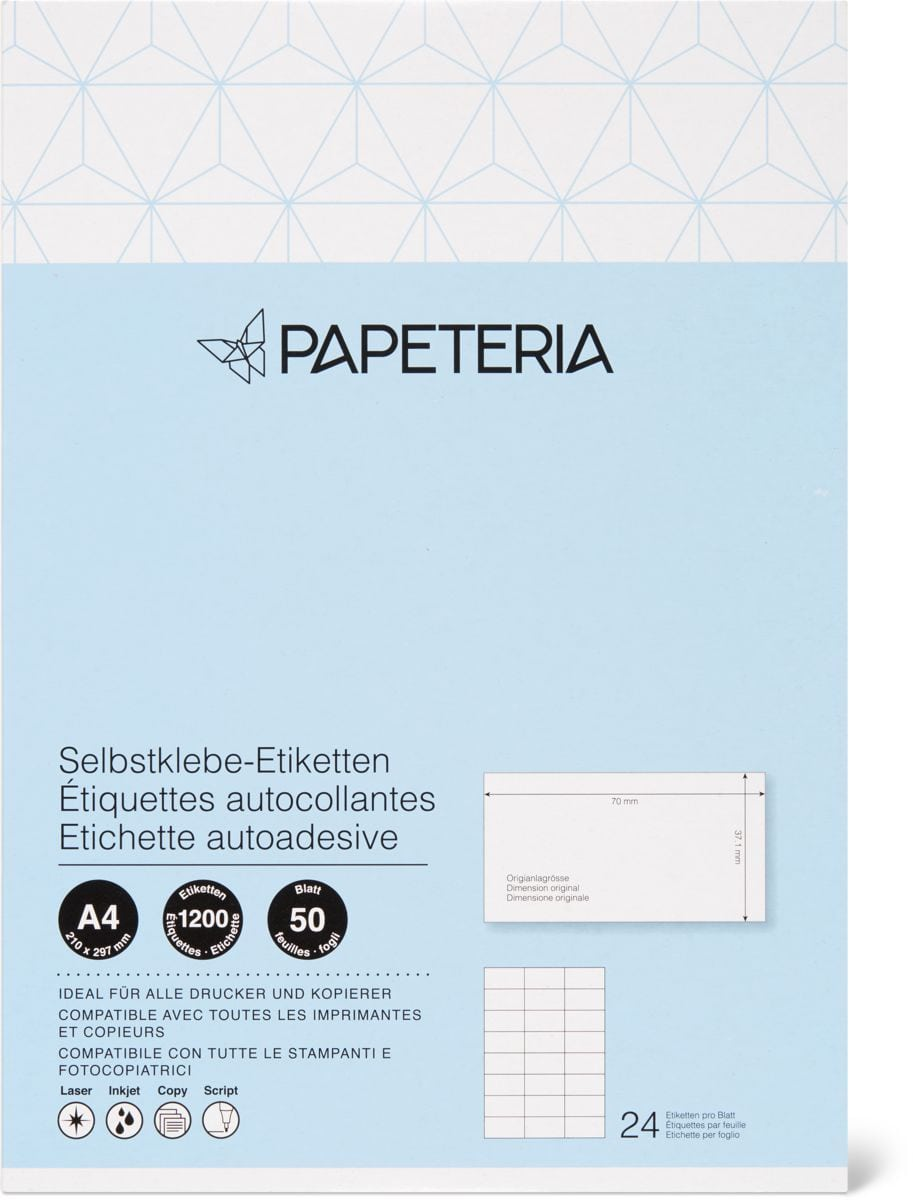 Papeteria Etiquettes 70 x 37 1mm 50p