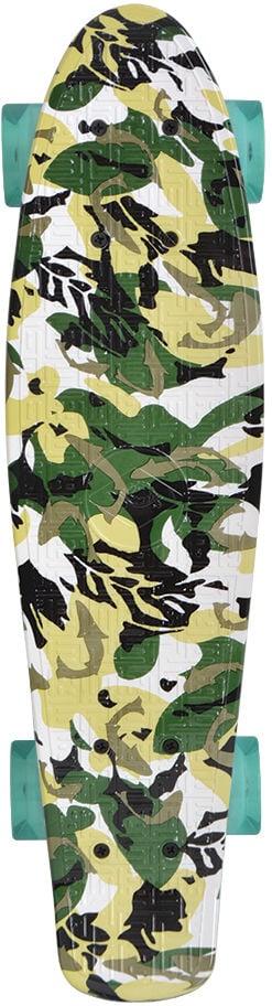 Schildkröt Retro Skateboard Camouflage