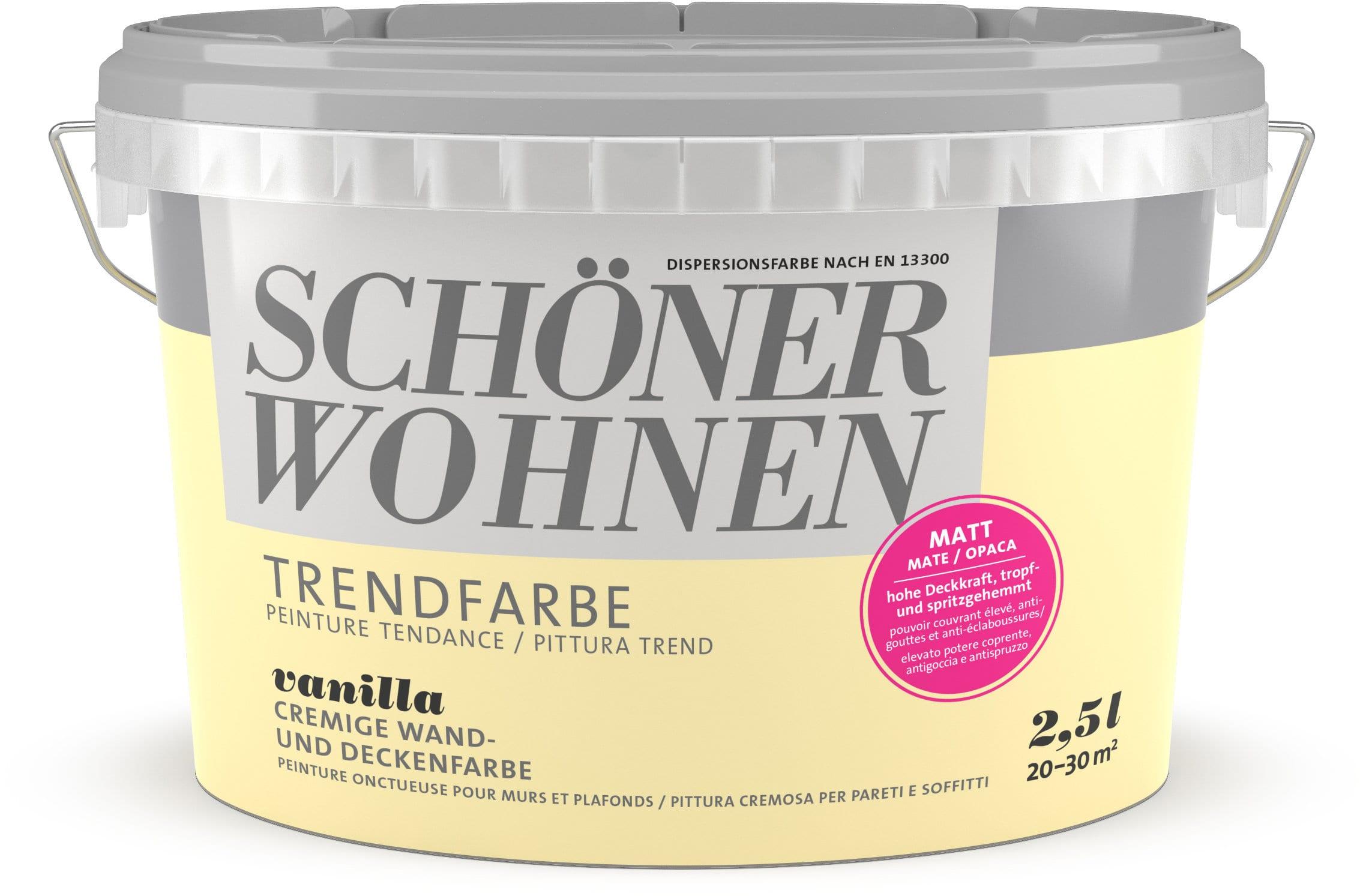 Schöner Wohnen Pittura trend OPACA 2,5L Vanilla Vanilla 2.5 l