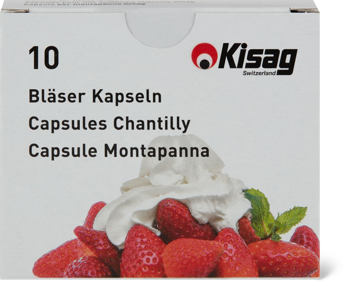 Kisag Cartouches pour des siphons N2, 10 pièces