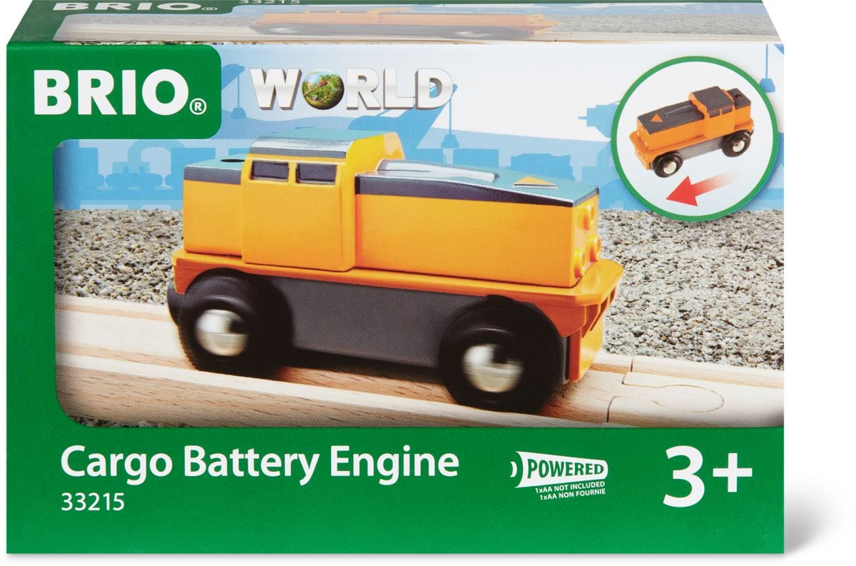 Brio Frachtlok batteriebetrieben (FSC®) Bahn
