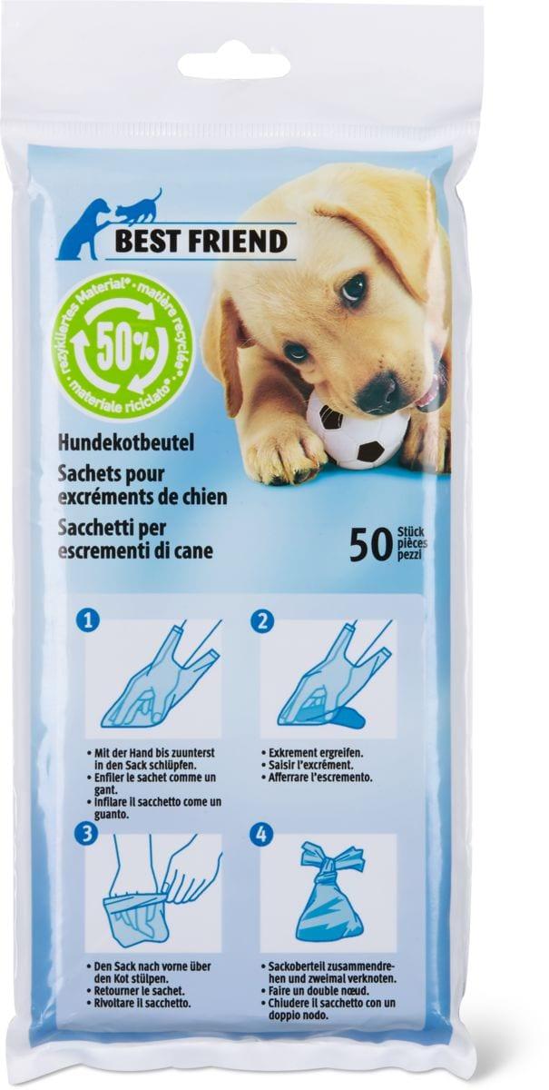 Sachets excréments de chien, recycling