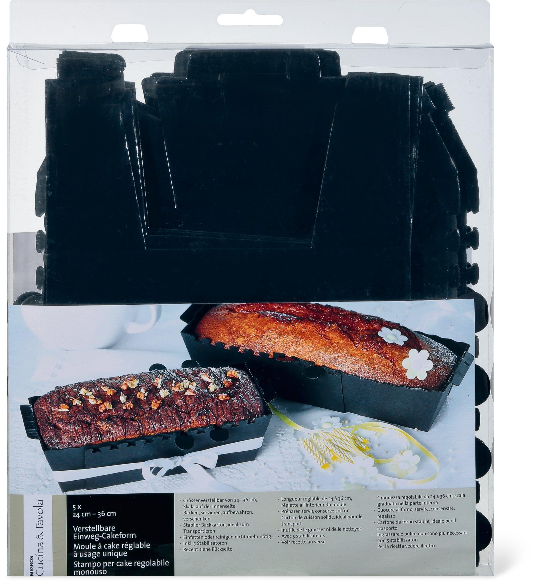 Cucina & Tavola CUCINA & TAVOLA Verstellbare Einweg-Cakeform