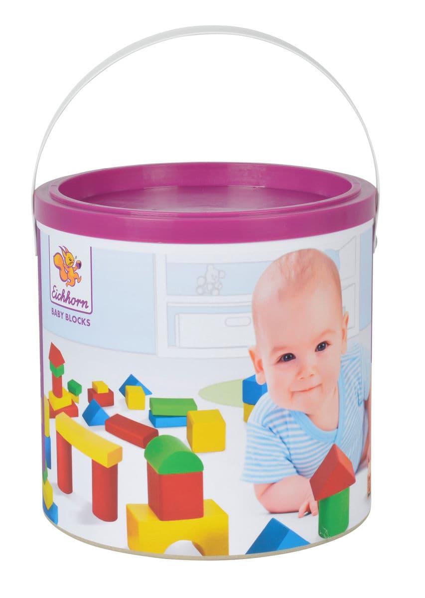Eichhorn Heros Colorati blocchi di costruzione in legno bambino (FSC®) Set di giocattoli