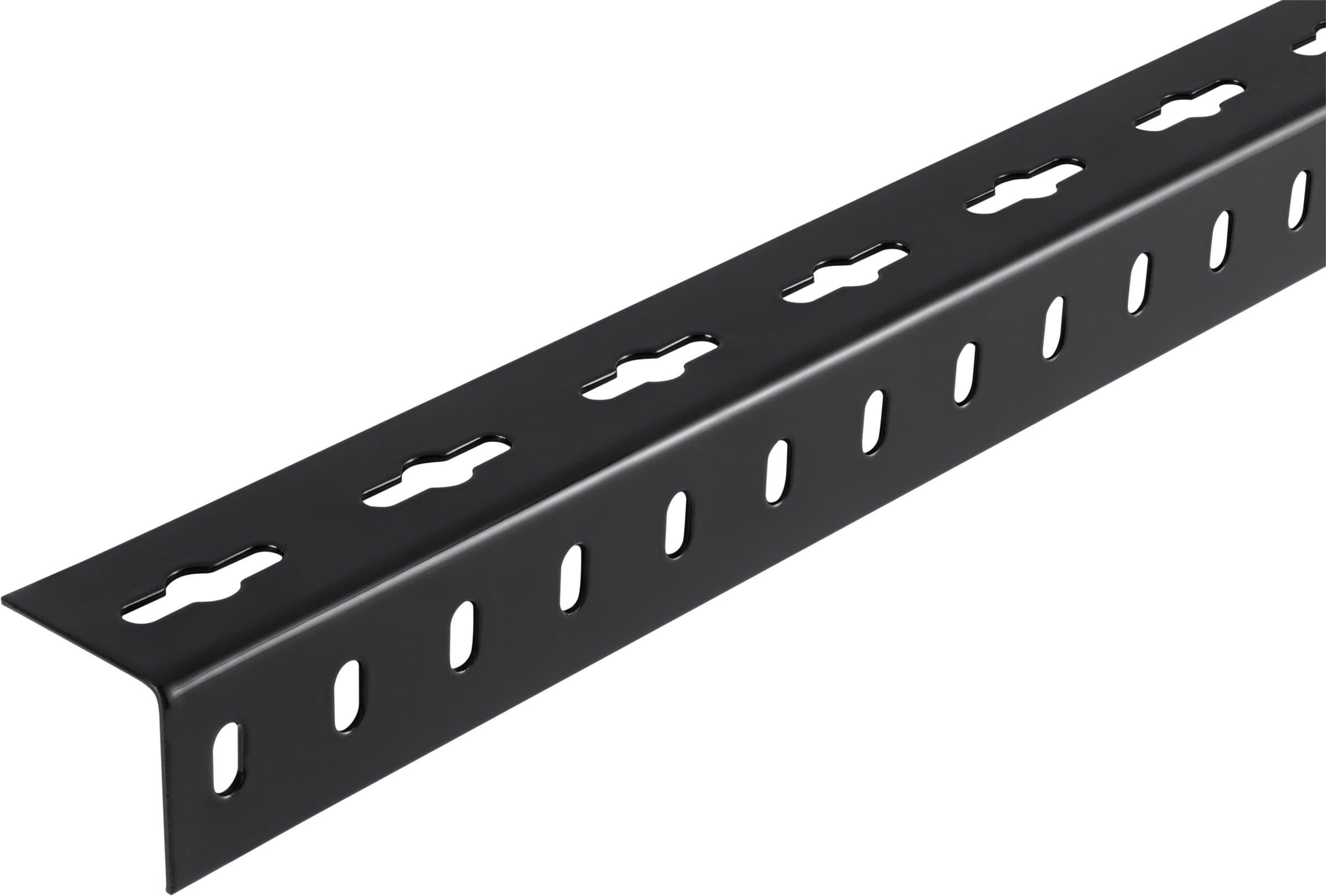 alfer Angolare isoscele 35.5 x 35.5 forato acciaio nero 2 m