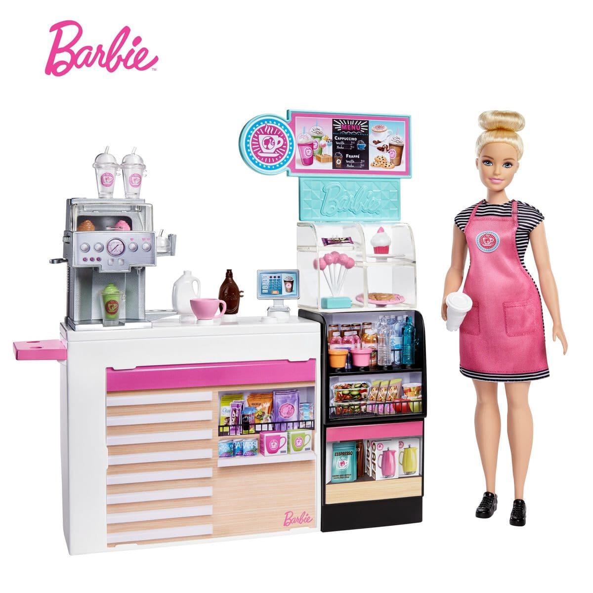 Barbie Coffee Shop Spielset und Puppe Puppenset