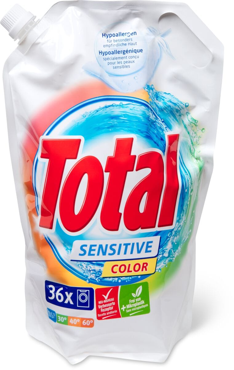 Total Sensitive Color détergent