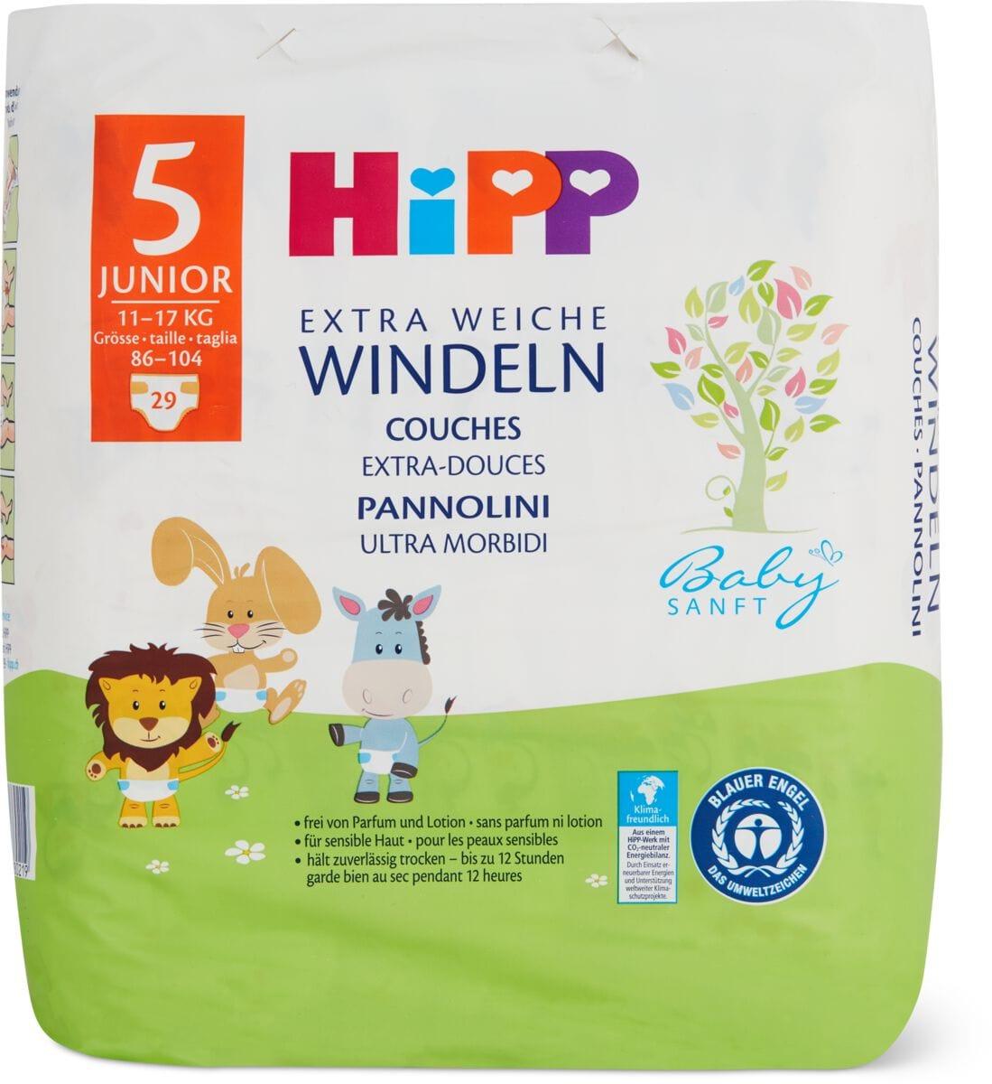 Hipp Babysanft pannolini Junior 5
