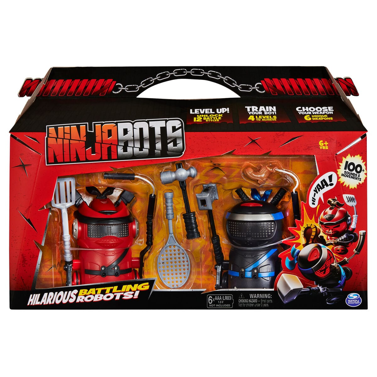Spin Master Ninja Bots Double Pack Figure giocattolo