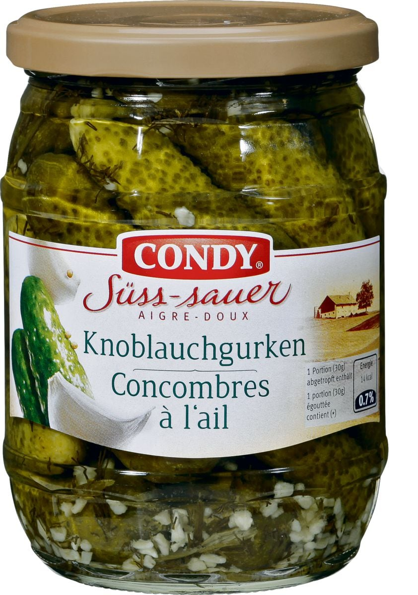 Condy Knoblauchgurken süss-sauer
