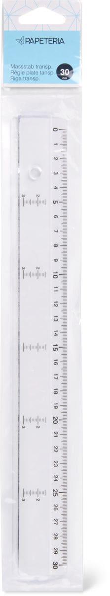 Papeteria riga trasparente 30cm