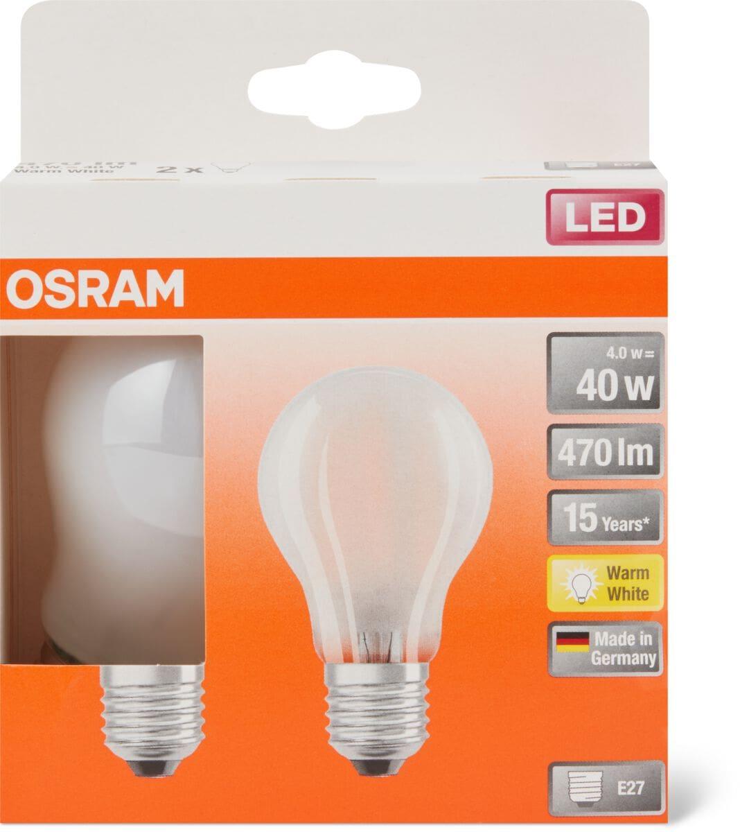 Osram LED BASE MATT CLAS A 40 E27