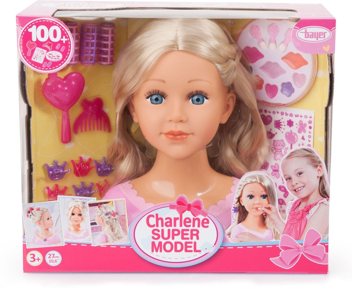 Bayer Busto di Bambola con Trucco e Accessori Set di bambole