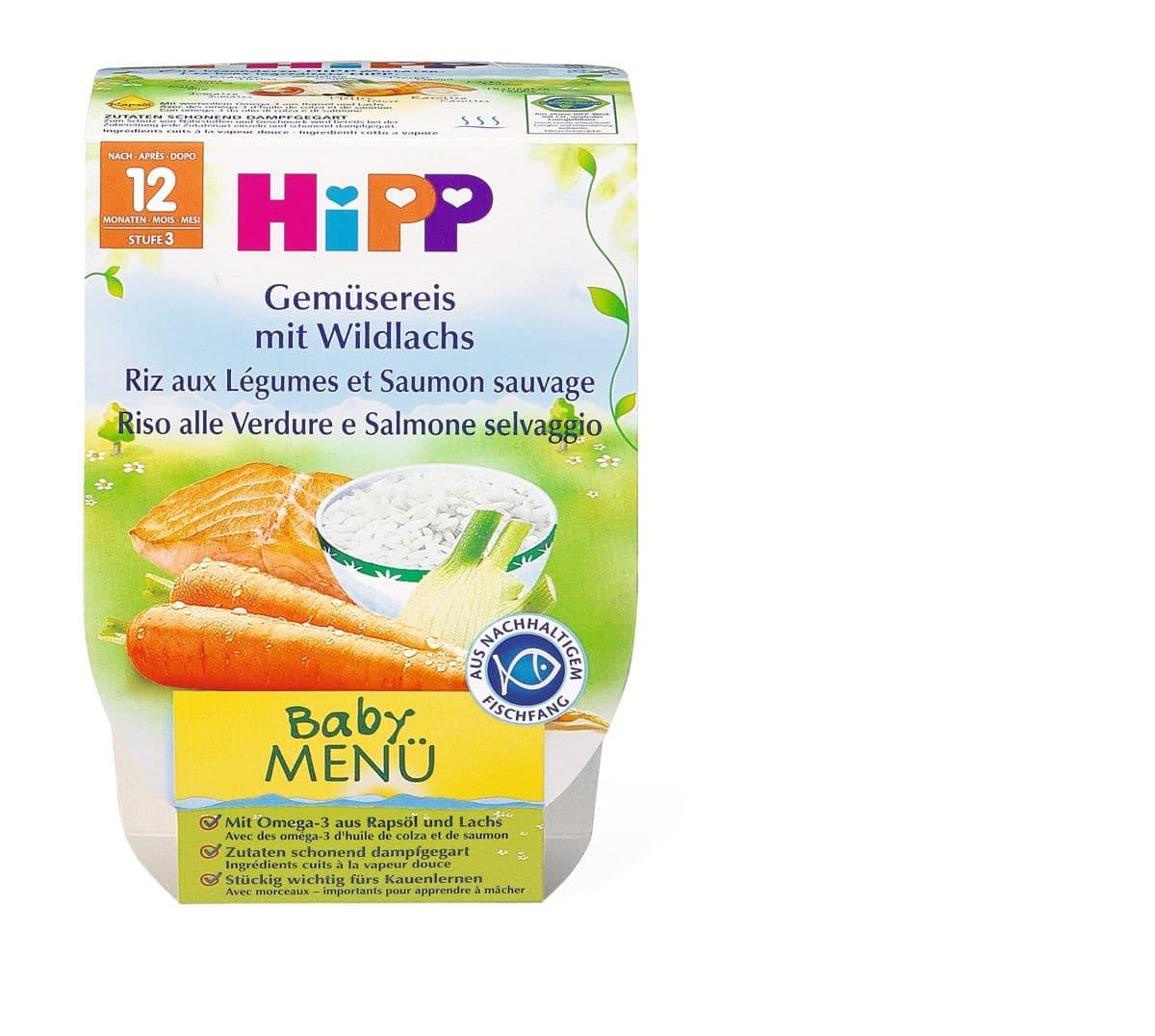 Bio HiPP Riz aux légumes et saumon