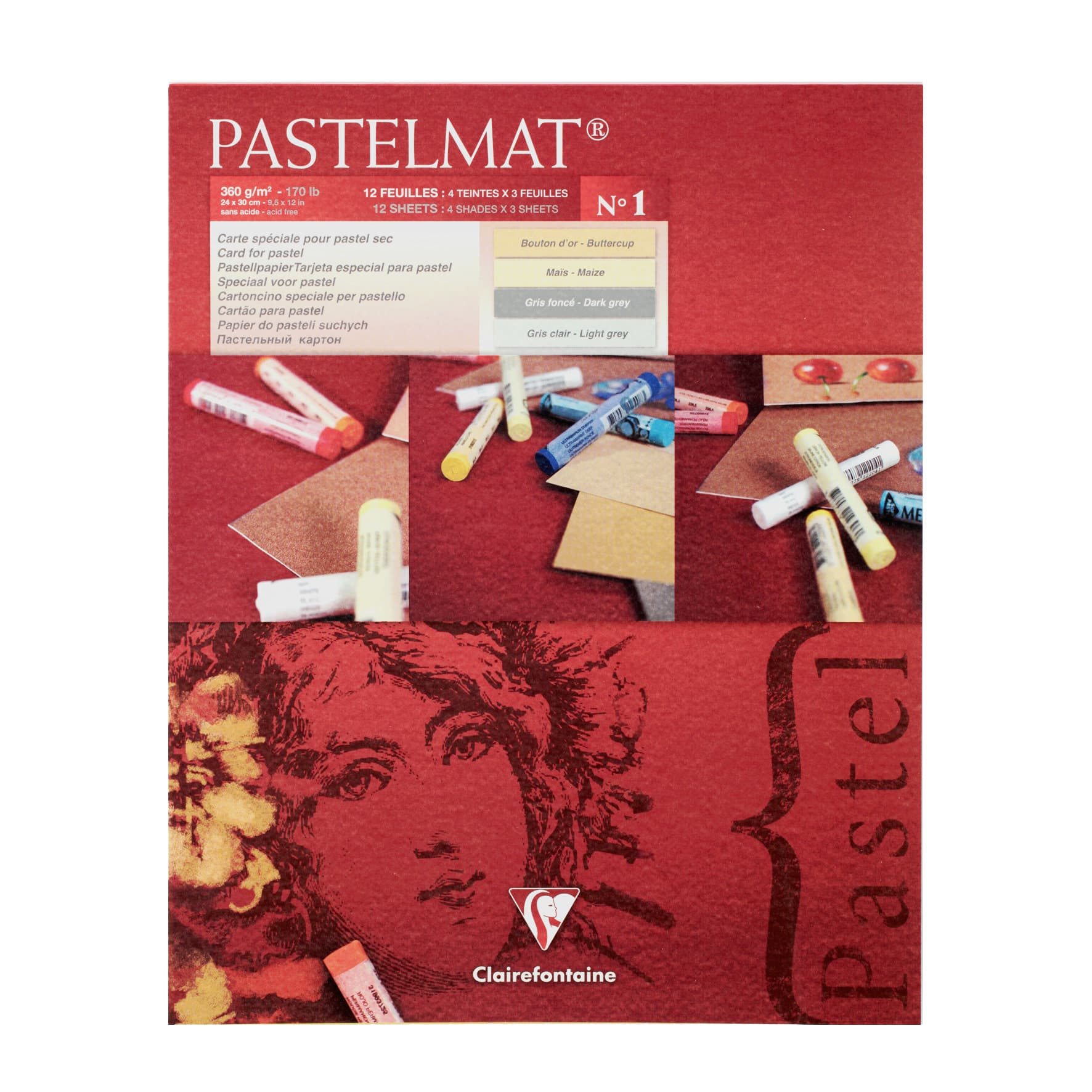 Pebeo Bloc Pastelmat 360g 24x30cm 12f