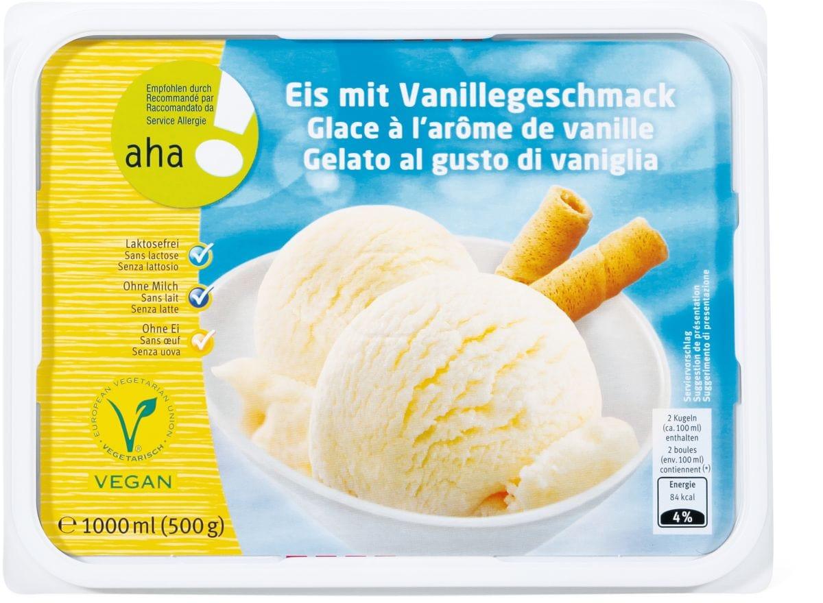 Aha! Eis mit Vanillegeschmack