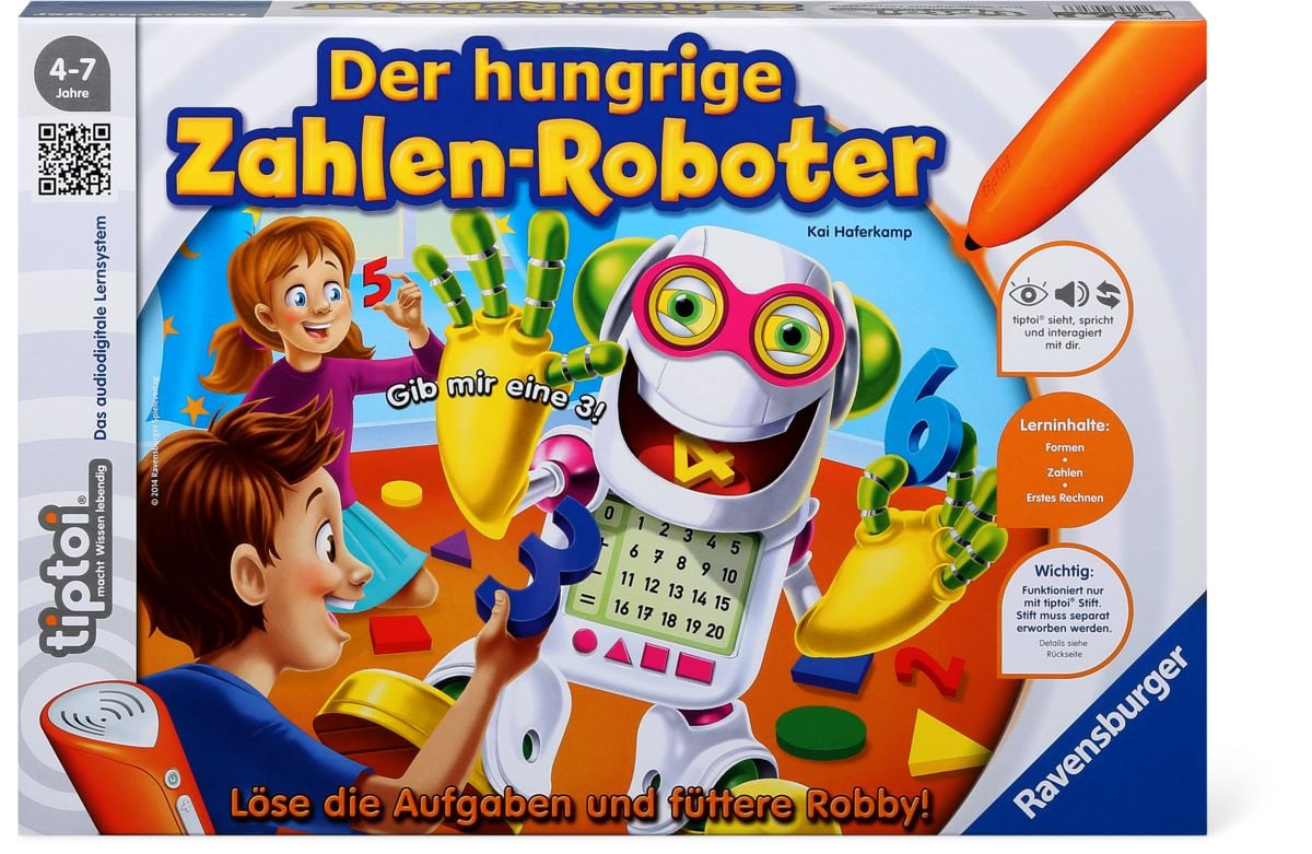 Tiptoi Der hungrige Zahlenroboter (D)