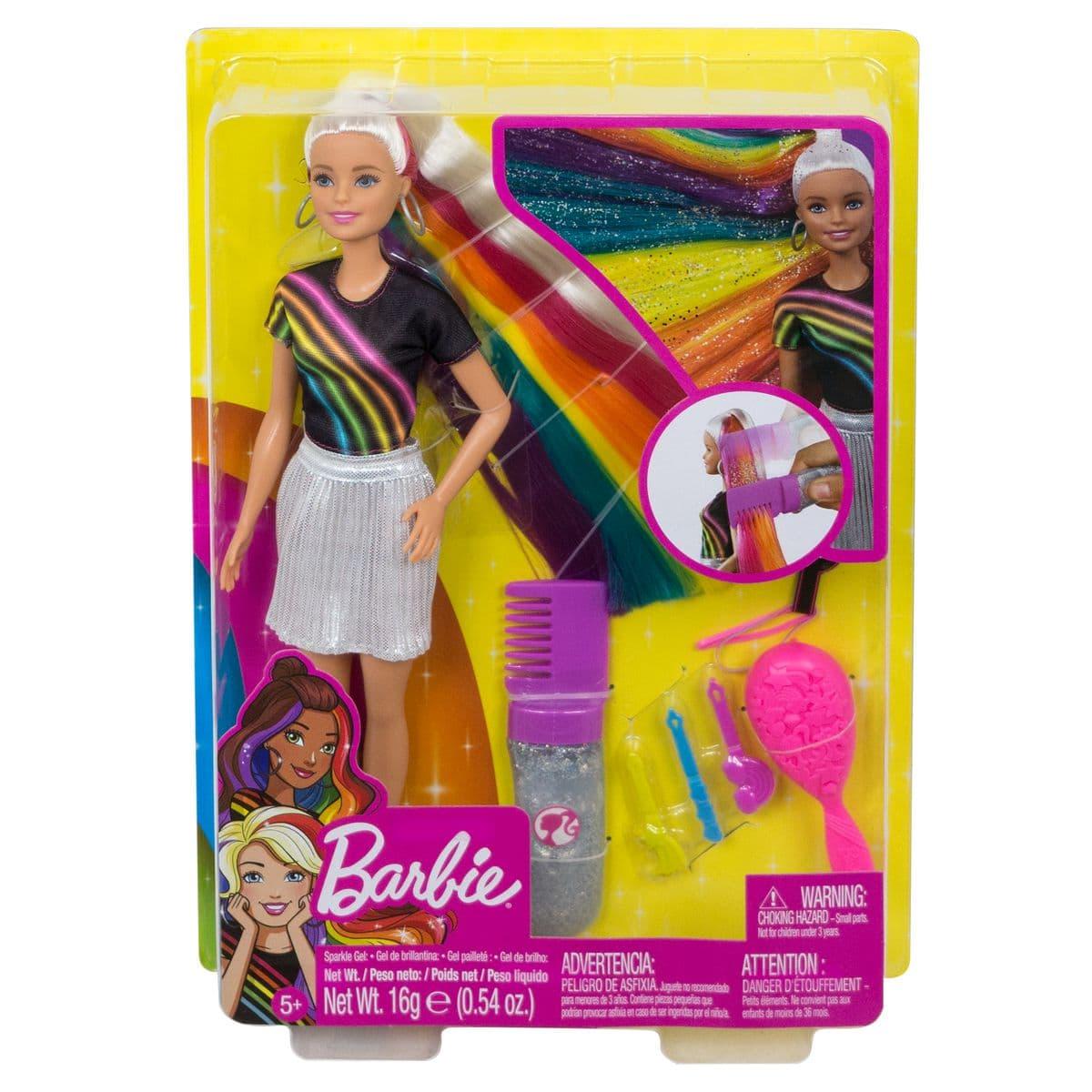 Barbie FXN96 Rainbow Sparkle Hair