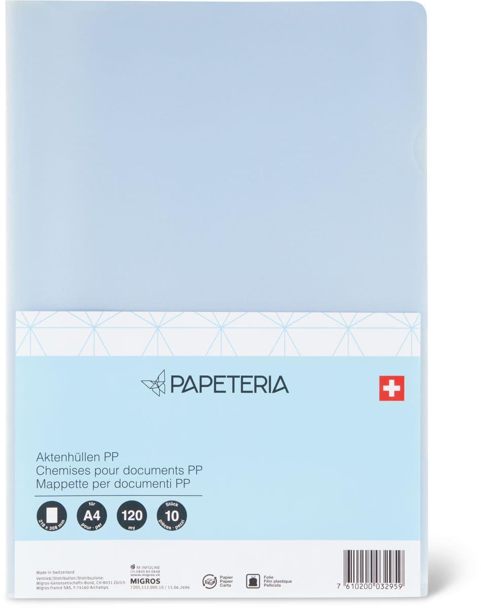 Papeteria Chemises pour documents 10 pcs