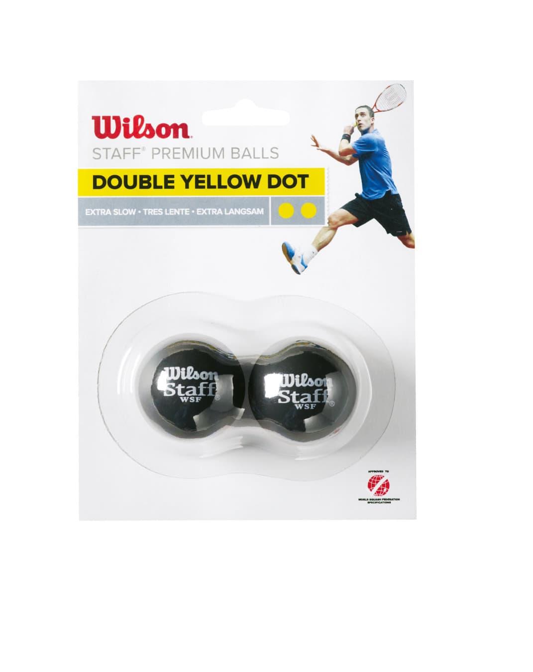 Wilson Squash Ball Doppel gelb Squash-Ball