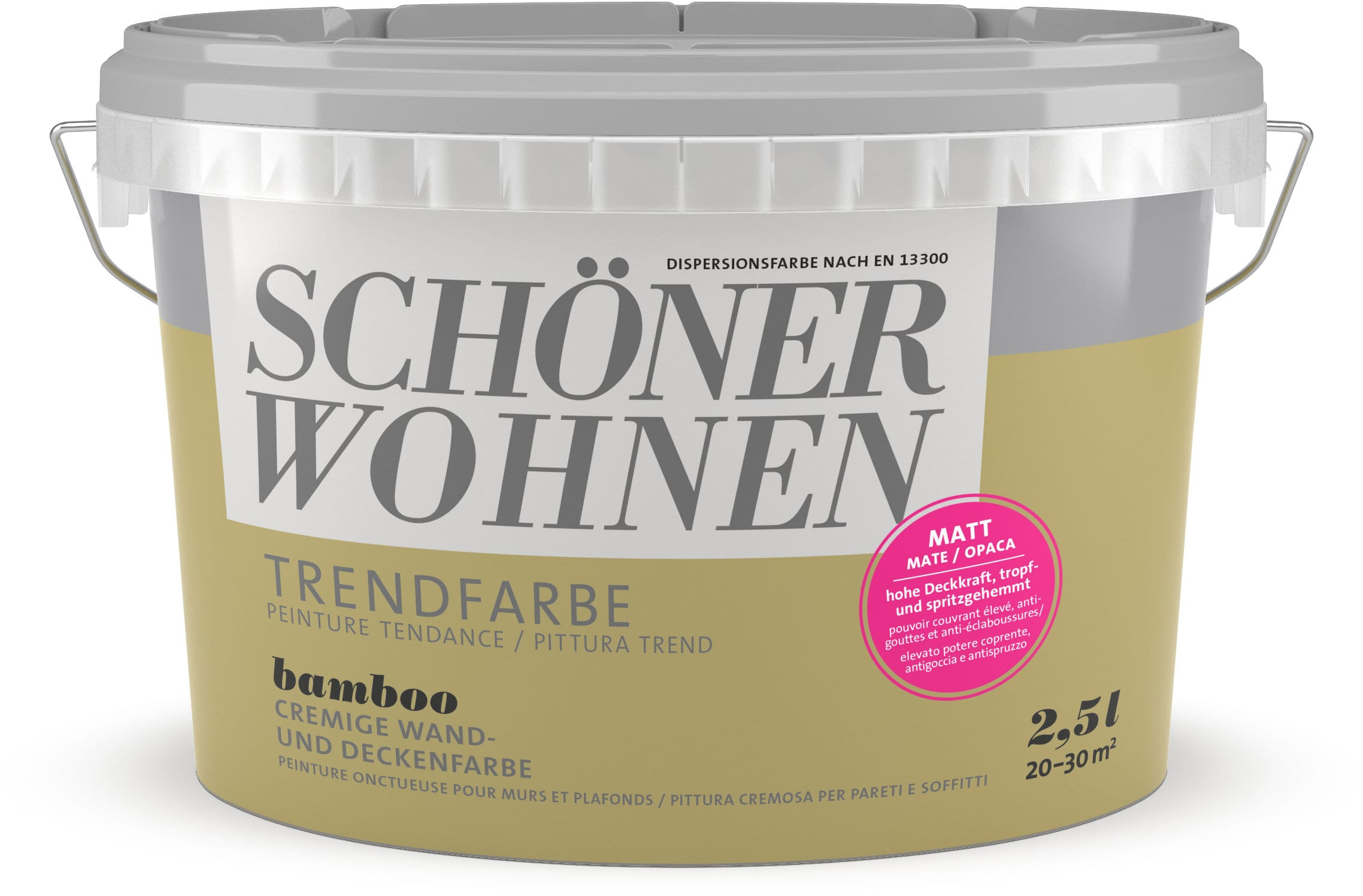 Schöner Wohnen Vernice di tendenza opaca Bamboo 2.5 l