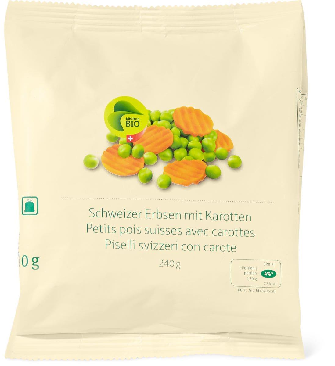 Bio piselli con carote