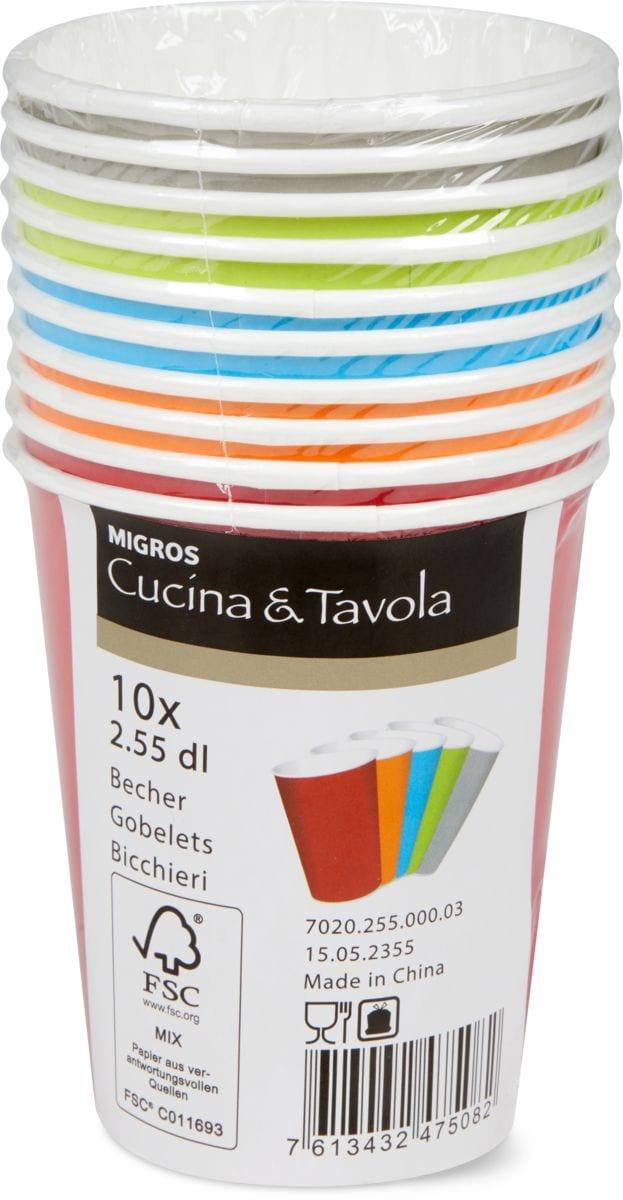 Cucina & Tavola Bicchieri di carta, 2dl