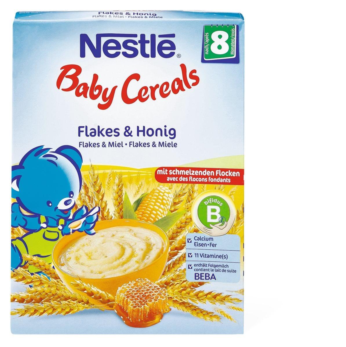 Nestlé Baby Cereals Flakes und Honig