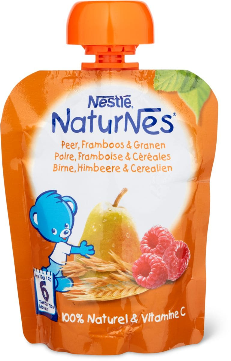Nestlé NaturNes Quetschbeutel Birne Himbeere Cerealien