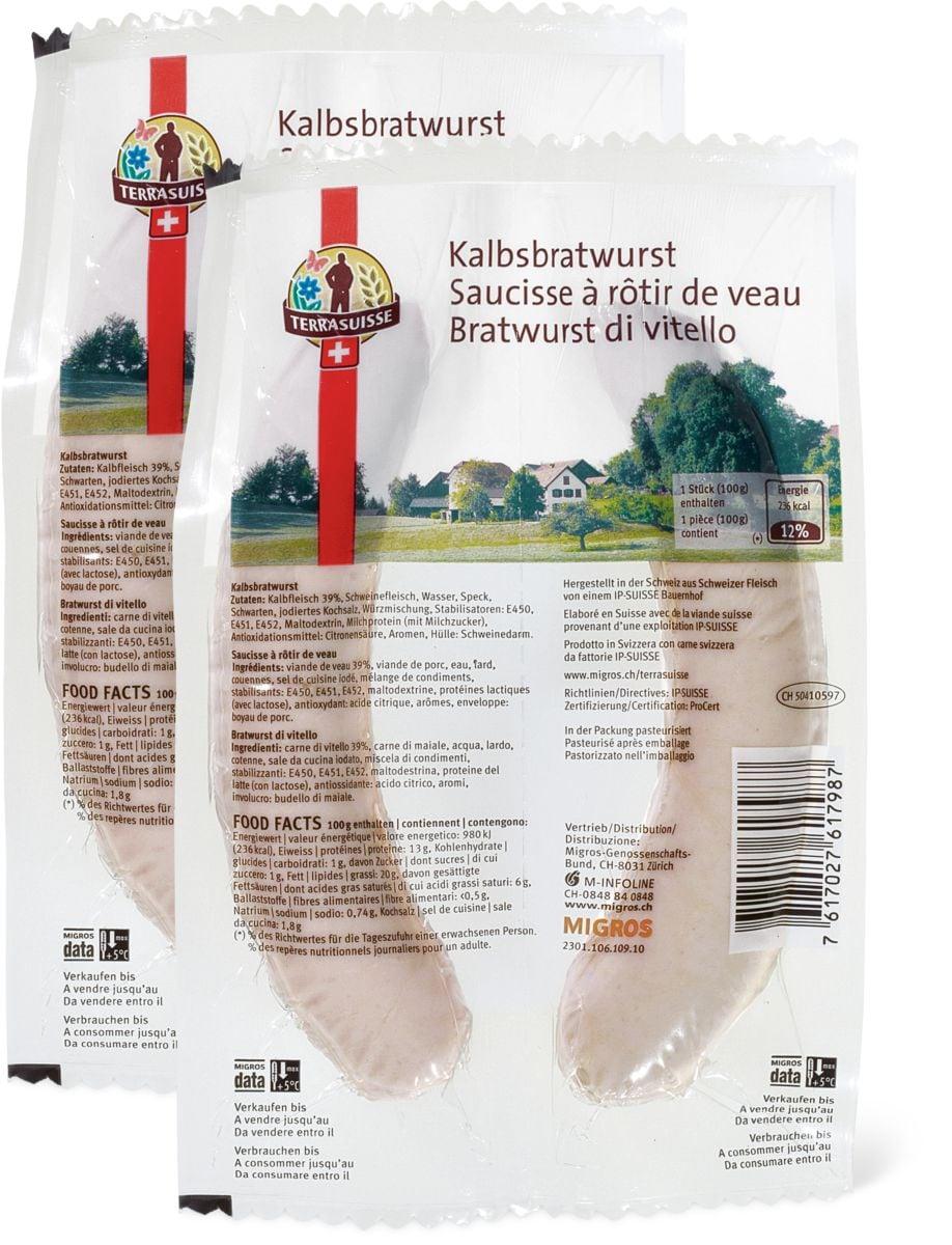 TerraSuisse Kalbsbratwurst im Duo-Pack