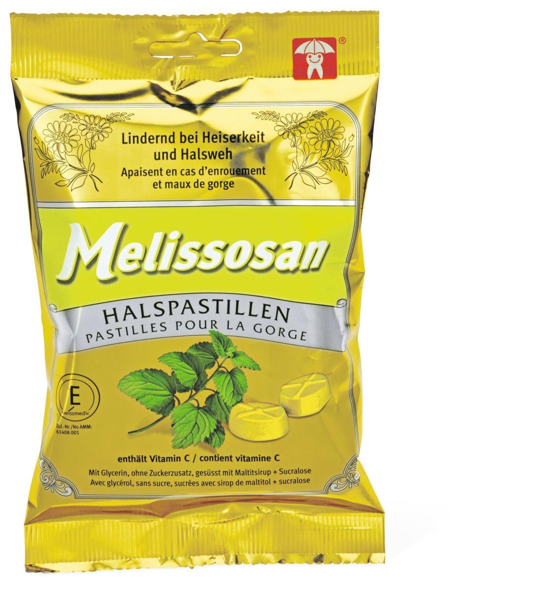 Melissosan pastilles pour la gorge