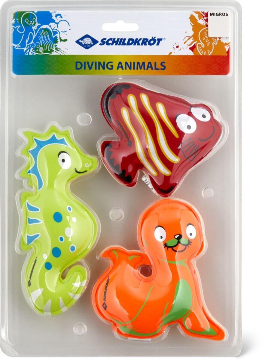 Schildkröt Neopren Tauchtierchen 3er Set Wasser-Spielzeug
