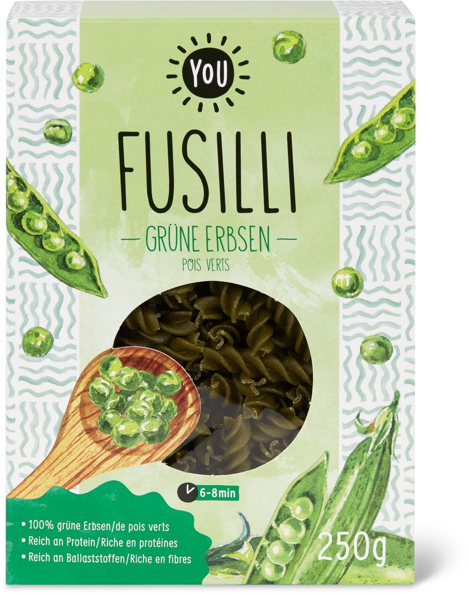 Bio YOU fusilli Pois verts