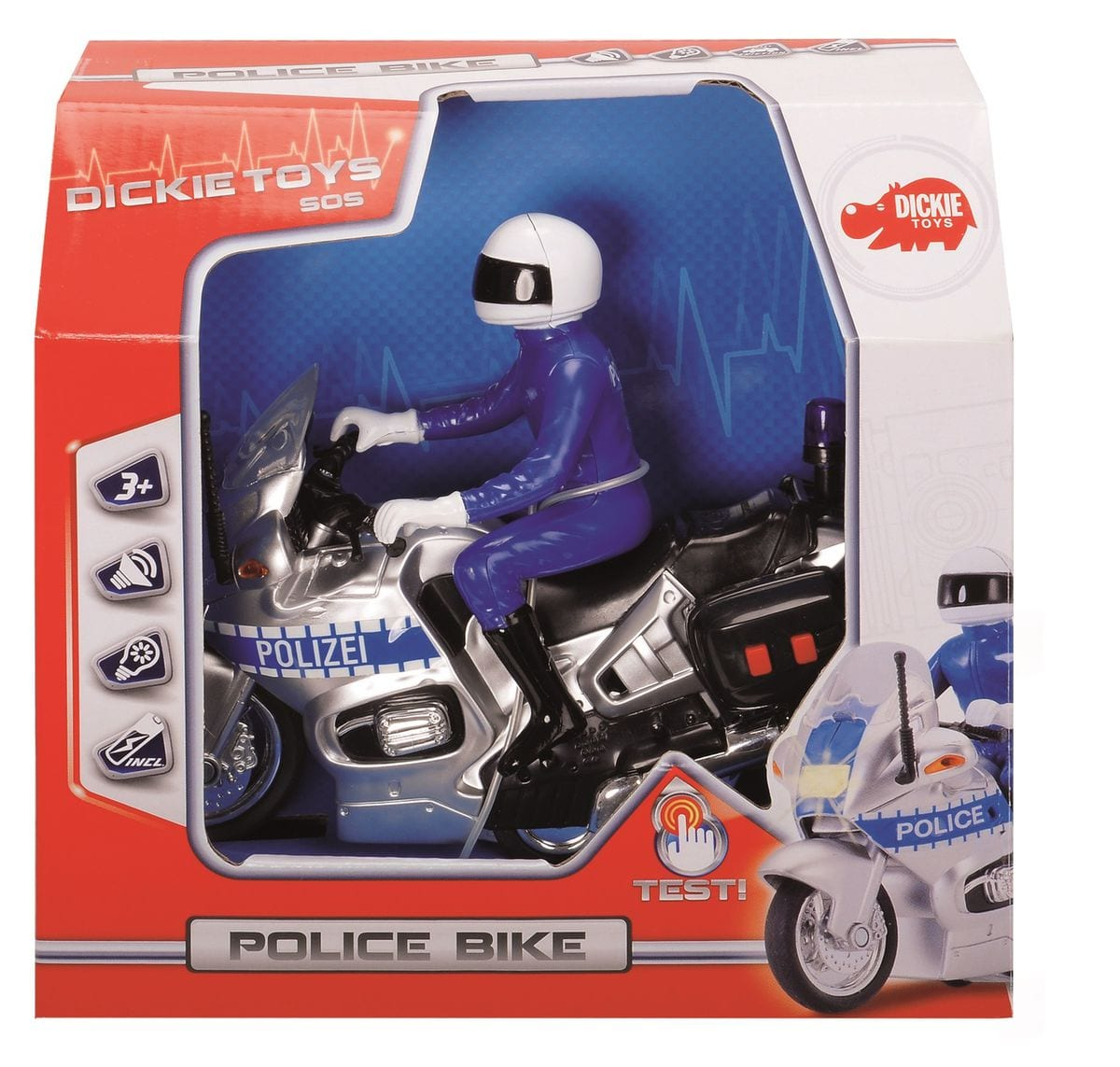Dickie Toys Swiss Police Motorcycle Macchinine