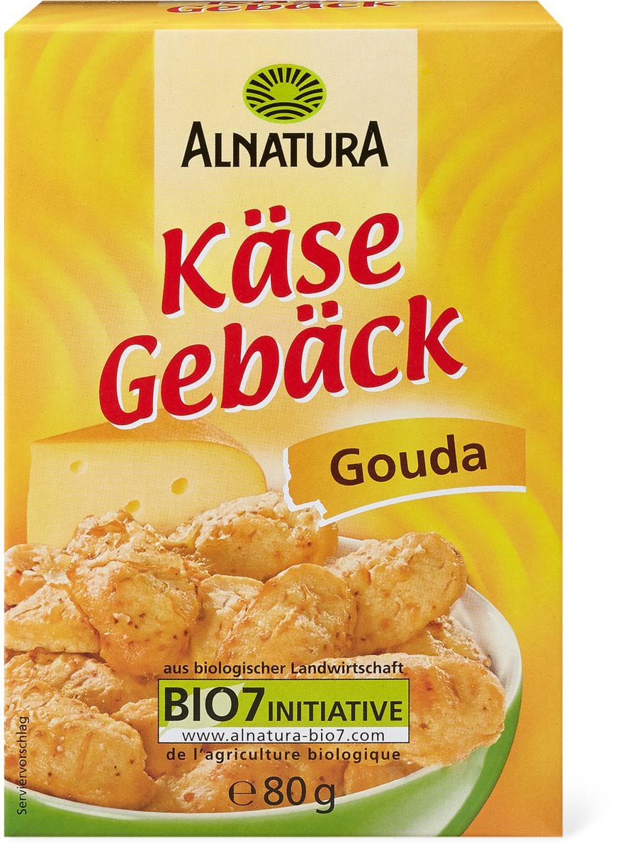 Alnatura biscuits au fromage gouda
