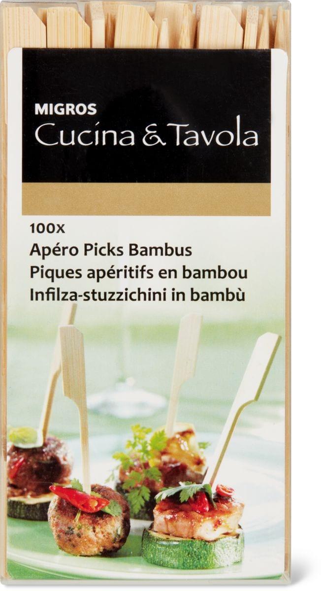 Cucina & Tavola Piques apéritifs en bambou