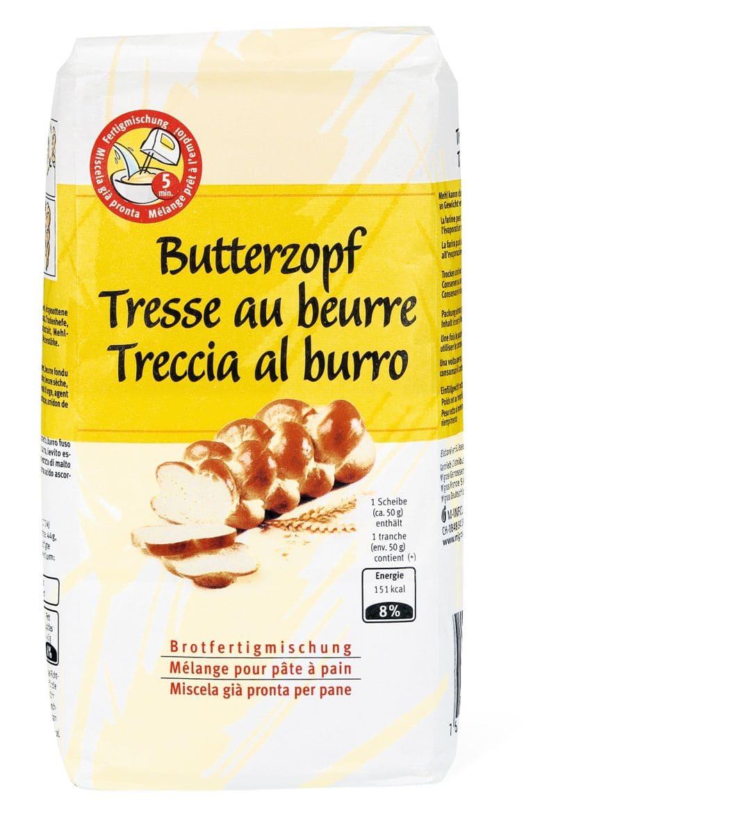 Tresse au beurre Mélange pâte à pain
