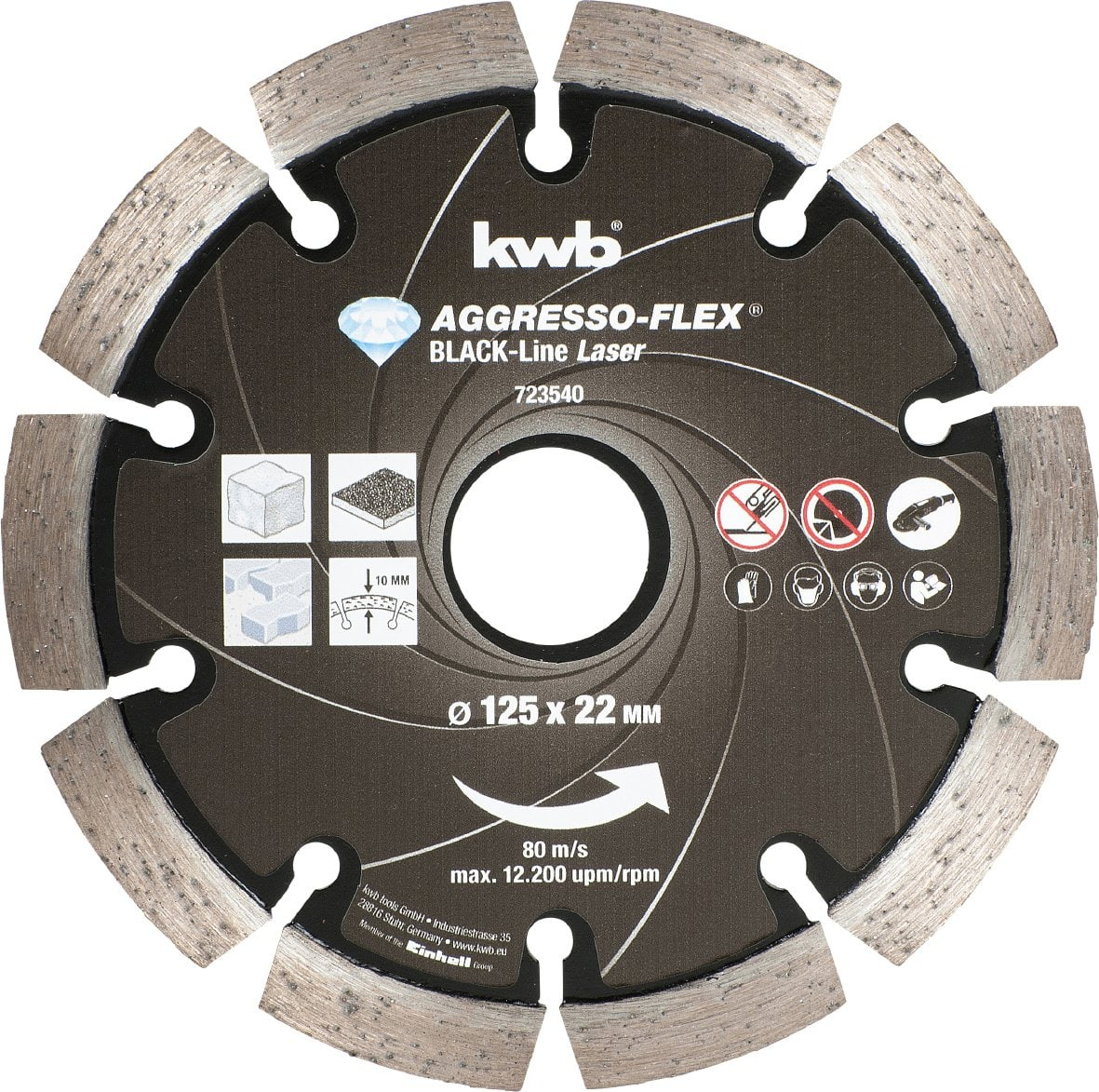kwb Mole da taglio Black-Line DIAMANT, ø 125 mm