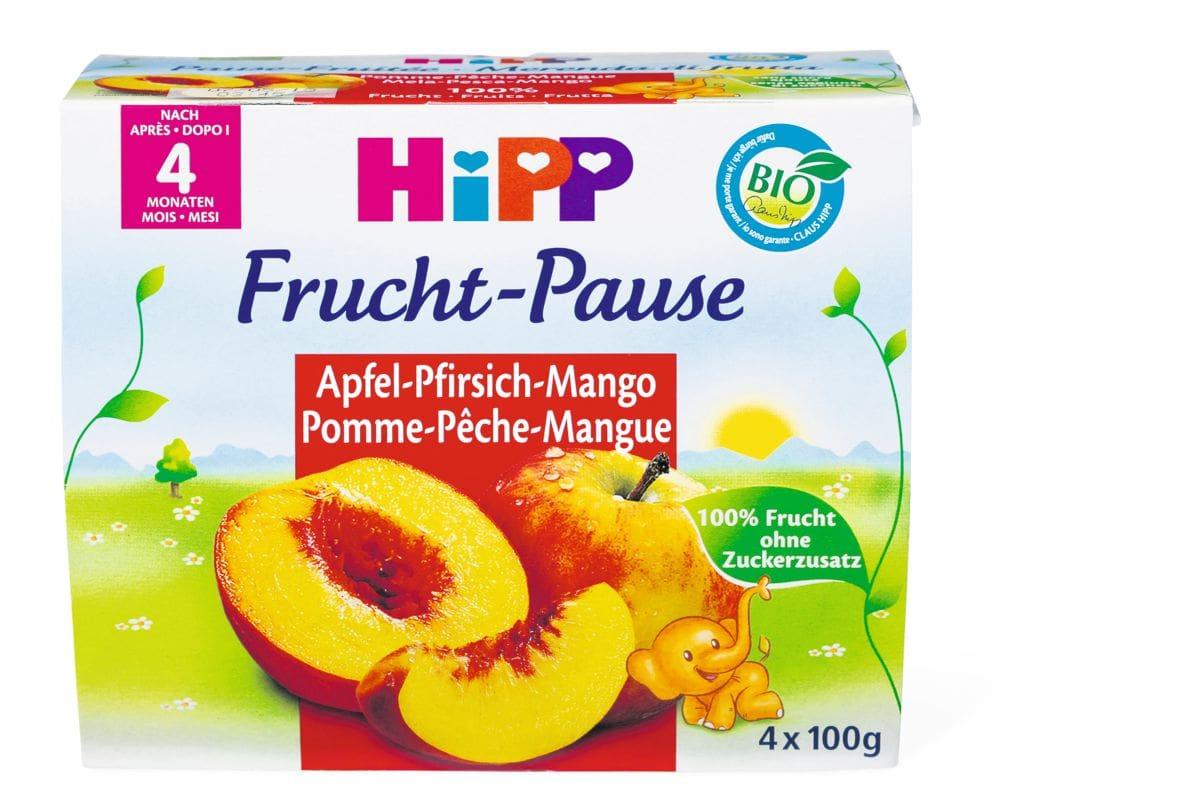 Bio HiPP Fruchtpause Pomme-pêche-mangue