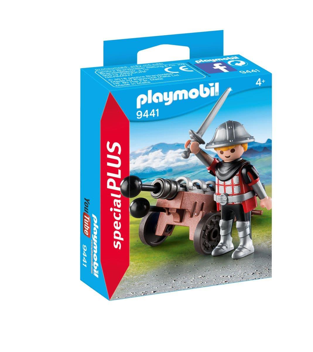 Playmobil Chevalier avec canon